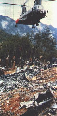 japan airlines flugzeug absturz 1985